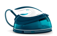 Philips GC7830/20 2400W 1.5L SteamGlide Plus Blu, Bianco ferro da stiro a caldaia