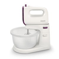 Philips Viva Collection HR3745/10 Sbattitore con base 450W Porpora, Bianco sbattitore