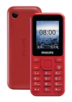 "Philips CTE105RD/93 1.77"" 71.2g Rosso cellulare"