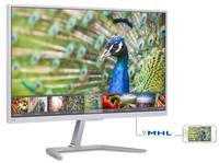 "Philips E Line 276E7QDSW/61 27"" Full HD IPS Bianco monitor piatto per PC"