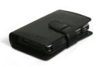Acer n300 Leather Cover (flip side - Book-Style ) Nero