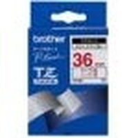 Brother Gloss Laminated Labelling Tape - 36 mm, Red on White TZ nastro per etichettatrice