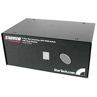 StarTech.com 2 Port StarView DVI KVM Switch with Dual Display Nero switch per keyboard-video-mouse (kvm)