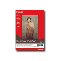 Canon A3+ (329 x 423 mm) Fine Art Paper Photo Rag (FA-PR1), 188 g/m2, 20-pack carta fotografica