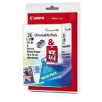 Canon CLI-36 ChromoLife Color Ink Tank Nero, Ciano, Giallo cartuccia d