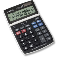 Canon Desk Display Calculator TS-121TC Scrivania Calcolatrice con display Nero