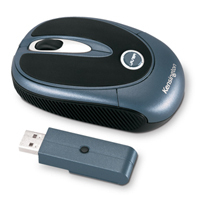 Kensington PilotMouse Laser Wireless Mini RF Wireless Laser Blu mouse