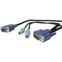 StarTech.com 25 ft Ultra-Thin PS/2 3-in-1 KVM Cable 7.5m cavo per tastiera, video e mouse