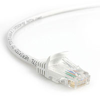 StarTech.com 25 ft White Snagless Category 5e (350 MHz) UTP Patch Cable 7.62m Bianco cavo di rete