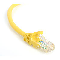 StarTech.com 25 ft Yellow Snagless Category 5e (350 MHz) UTP Patch Cable 7.62m Giallo cavo di rete