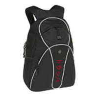 "Toshiba Backpack black + white with red Katakana logo 15.4"" Zaino"