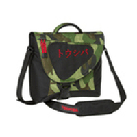 "Toshiba Messenger Bag Jungle with Katakana logo 15.4"" Borsa da corriere Verde"