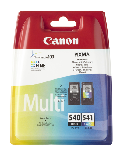 Canon PG-540/CL-541 Multi pack Black,Cyan,Magenta,Yellow ink cartridge