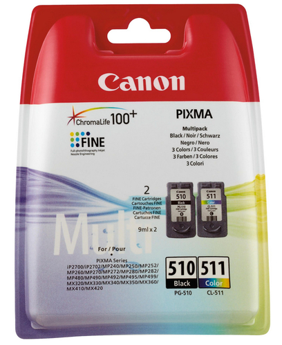 Canon PG-510/CL-511 Multi Pack Black,Cyan,Magenta,Yellow ink cartridge