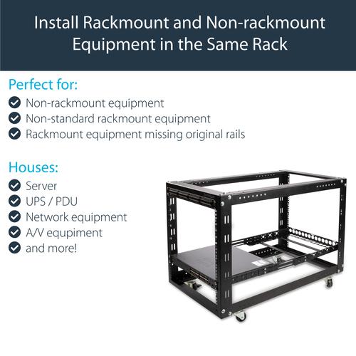 StarTech.com 1HE tiefenvestellbare 19 Zoll Server Rack Schienen - max. 25 kg Traglast