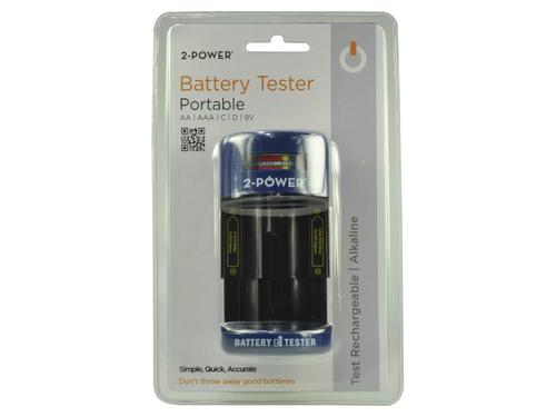 2-Power BTH0003A Black,Blue battery tester
