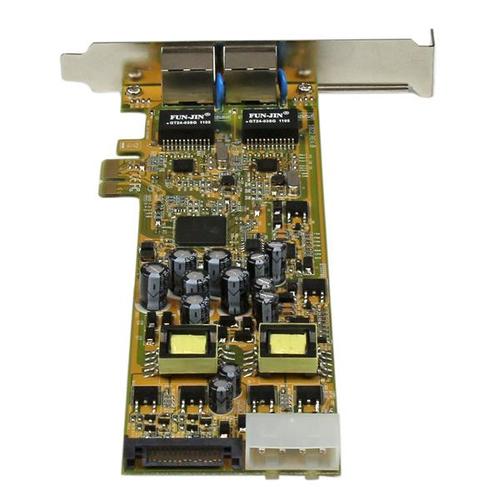 StarTech.com Dual Port PCI Express Gigabit Netzwerkkarte - PCIe PoE/PSE NIC Server Adapter - PCI Express - Realtek RTL8111