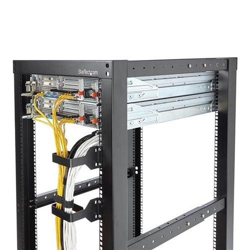 StarTech.com Mehrwege Rack Kabelführung/ Kabelmanagement Ring - 6x10cm - 1,5U Höhe - Stahl