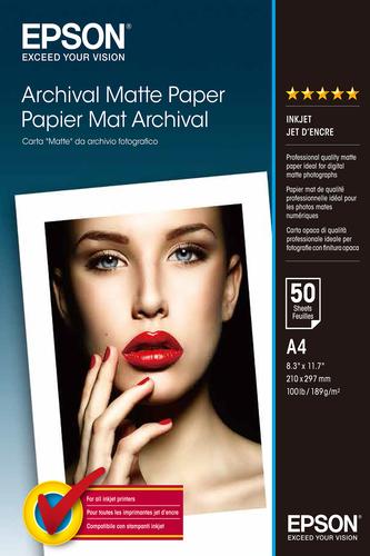Epson Archival Matte Paper, DIN A4, 192g/m², 50 Sheets