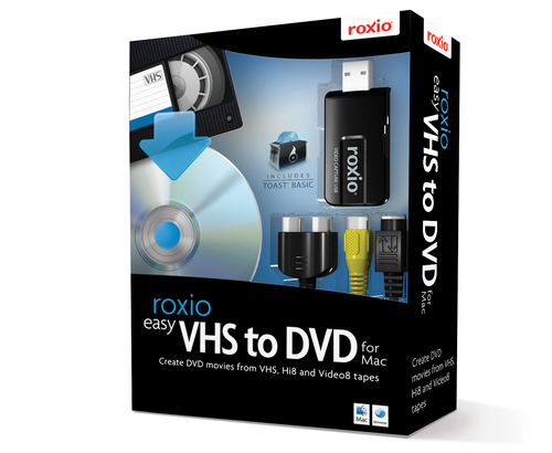 Corel Easy VHS to DVD for Mac. Logiciels fournis: Easy VHS to DVD, Roxio Toast 9 Basic disc burning, Prise en charge du sy