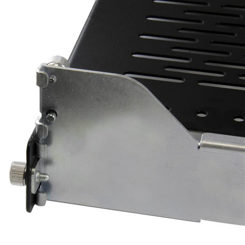 StarTech.com 2HE ausziehbarer belüfteter Fachboden mit Kabelführung / verstellbarer Montagetiefe bis 22,7 kg - 22,68 kg Ma