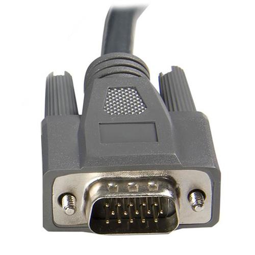StarTech.com 1,8 m schlankes 2-in-1 USB VGA KVM-Kabel - Erster Anschluss: 1 x HD-15 Stecker VGA - Zweiter Anschluss: 1 x H