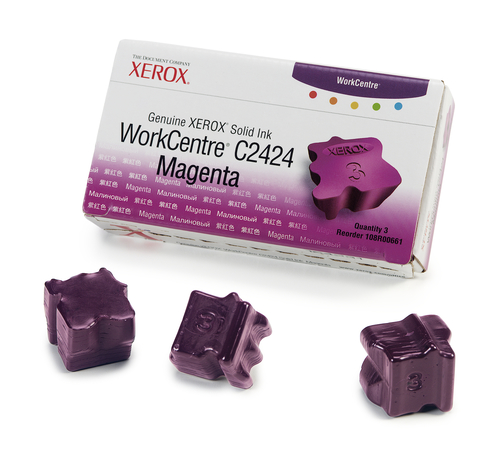 Xerox Genuine WorkCentre C2424 Solid Ink Magenta (3 sticks)