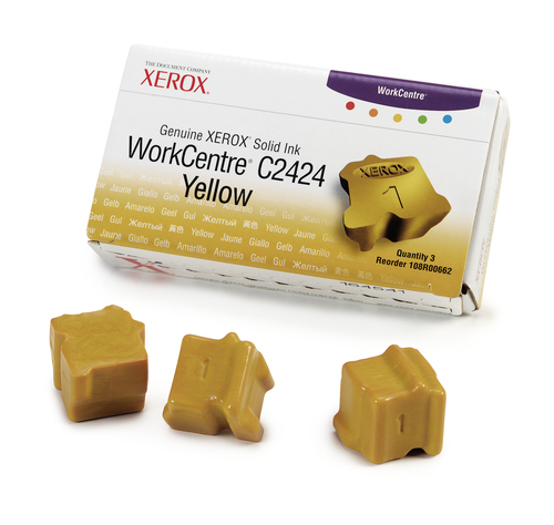 Xerox Genuine WorkCentre C2424 Solid Ink Yellow (3 sticks)