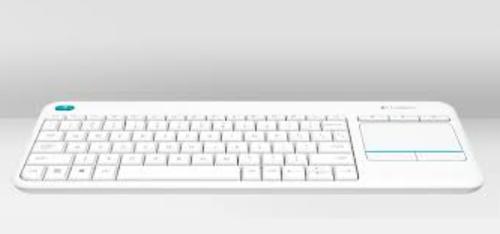 Logitech K400 Plus RF Wireless QWERTY UK English White keyboard