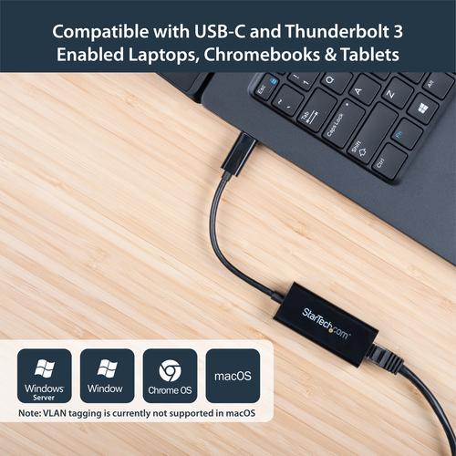 StarTech.com USB-C auf Gigabit Netzwerkadapter - USB 3.1 Gen 1 (5 Gbit/s) - Type-C Ethernet Adapter USB Powered - USB 3.1