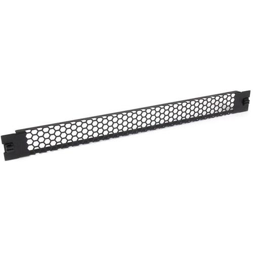 StarTech.com 1 HE Blindblende für Server Racks zur werkzeuglosen Installation - Belüftet - Stahl, Plastik - Schwarz - 1U R
