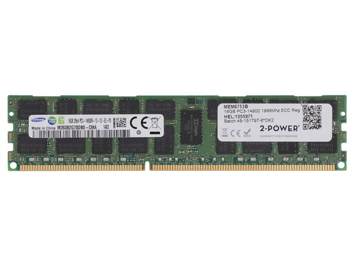 2-Power 16GB DDR3 1866MHz ECC Reg RDIMM Memory