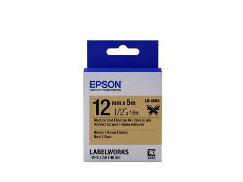 Epson LK-4KBK Black on gold label-making tape