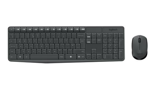 Logitech MK235 RF Wireless QWERTY US International Grey keyboard
