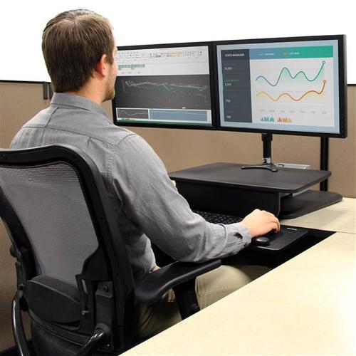 StarTech.com ARMSTS Multifunktions-Erhöhung für PC - Bildschirmgröße: 30,5 cm (12 Zoll) bis 76,2 cm (30 Zoll) - 13 kg Trag