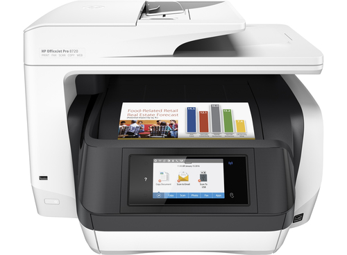 HP OfficeJet Pro 8720 AiO 4800 x 1200DPI Thermal Inkjet A4 24ppm Wi-Fi multifunctional