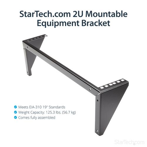 StarTech.com 2HE 19 Zoll Wandmontage Geräte Rack - max. 56,84 kg Traglast - 1