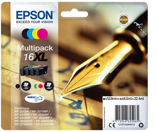Epson C13T16364012 Black, Cyan, Magenta, Yellow ink cartridge