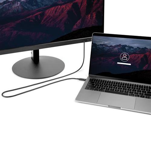 StarTech.com 2m Thunderbolt 3 USB C Kabel (40Gbit/s) - Thunderbolt und USB kompatibel - Erster Anschluss: 1 x Typ C Stecke