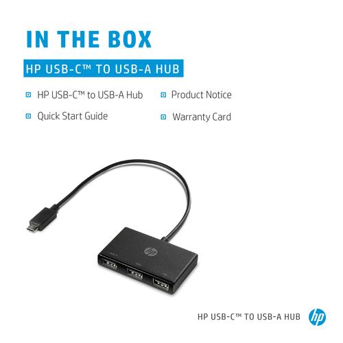 HP USB-Hub - USB-Typ C - Extern - 3 Total USB Port(s) - 1 USB 2.0 Port(s) - 2 USB 3.1 Port(s)