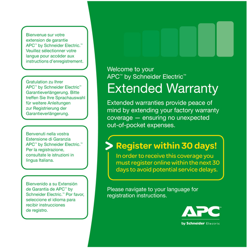 APC Service Pack 3 Year Warranty Extension (for new product purchases) IT course