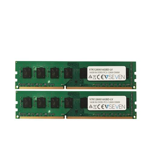 V7 RAM-Modul - 16 GB (2 x 8GB) - DDR3-1600/PC3L-12800 DDR3 SDRAM - 1600 MHz - CL11 - 1,35 V - Nicht-ECC - Ungepuffert - 24