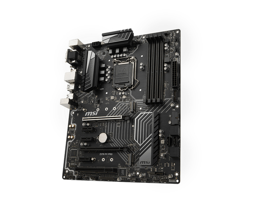 MSI Z370 PC PRO. Processor manufacturer: Intel, Processor socket: LGA 1151 (Socket H4), Compatible processor series: Intel