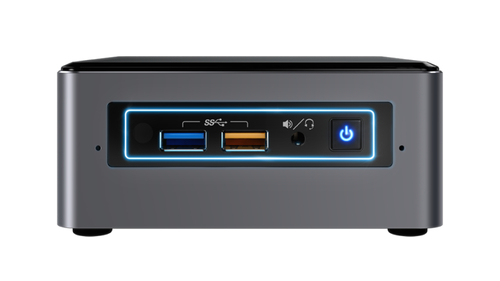 Intel NUC NUC7i3BNHXF 2.4GHz i3-7100U Nettop Black, Grey Mini PC