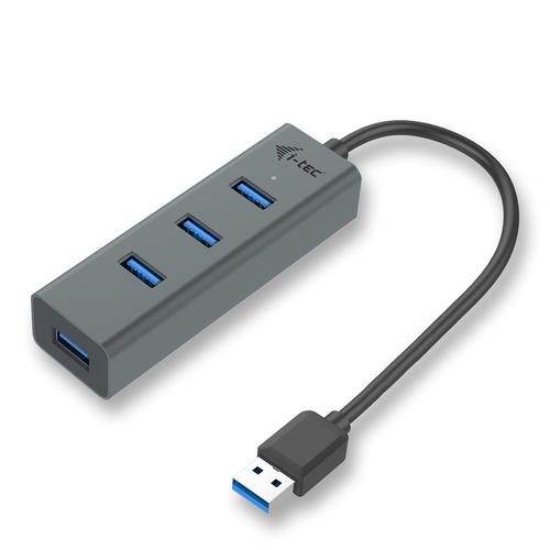 i-tec Metal USB 3.0 HUB 4 Port. Host interface: USB 3.2 Gen 1 (3.1 Gen 1) Type-A, Hub interfaces: USB 3.2 Gen 1 (3.1 Gen 1