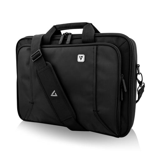 V7 PROFESSIONAL CCP16-BLK-9E Tasche für 39,6 cm (15,6 Zoll) Notebook - Schwarz - Witterungsbeständig - Griff - 289,6 mm Hö