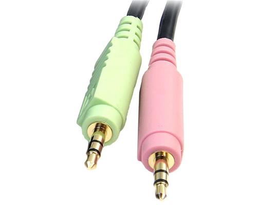 StarTech.com 1,8m 4-in-1 USB DisplayPort® KVM-Switch Kabel mit Audio und Mikrofon - DisplayPort Stecker, 4-polig Typ A Ste