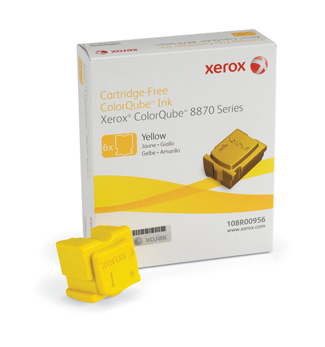 Xerox ColorQube 8870 ink, yellow (6 sticks 17300 pages)