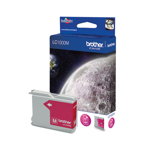 BROTHER LC-1000 inktcartridge magenta standard capacity 500 pagina s 1-pack
