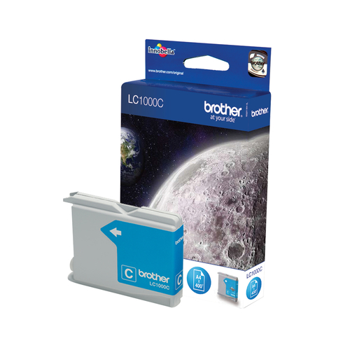 BROTHER LC-1000 inktcartridge cyaan standard capacity 400 pagina s 1-pack